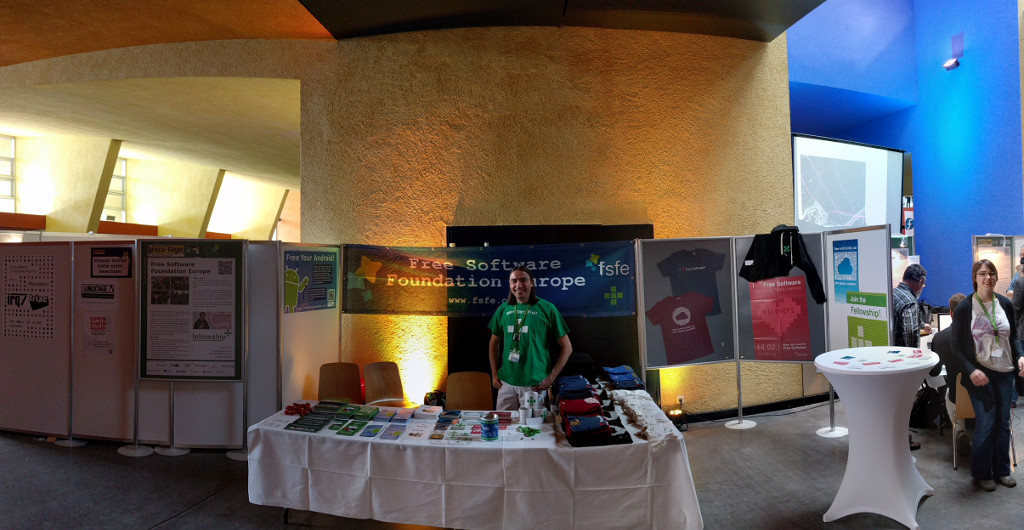 FSFE booth at Chemnitzer Linuxtage