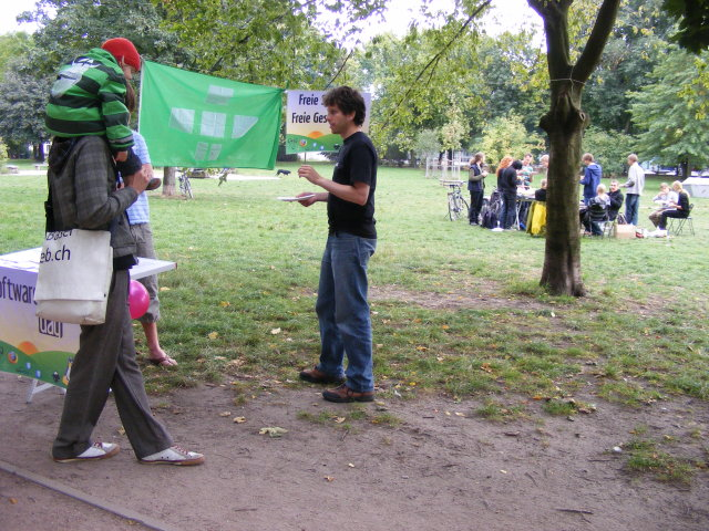 picutre of our booth in the mauerpark