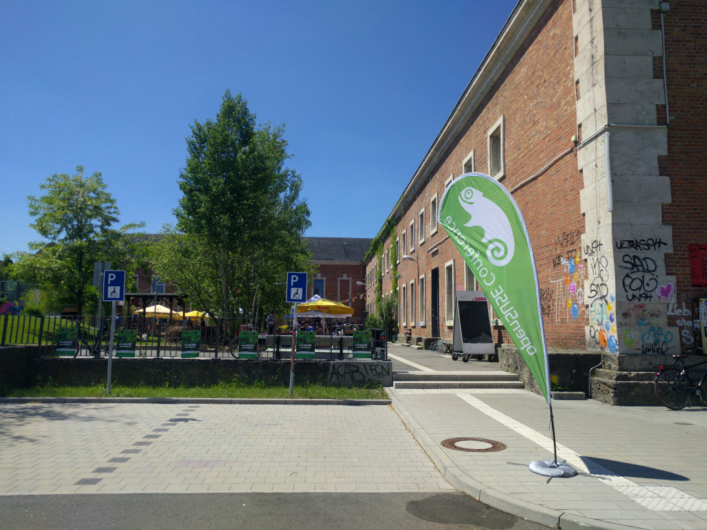 Entrance to the venue of the openSUSE conference 2017