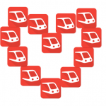 heart out of transpotr logos